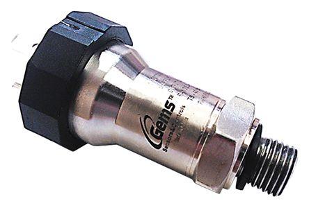 Gems Sensors Pressure Sensor for Air, Gas, Water , 10bar Max Pressure Reading Current