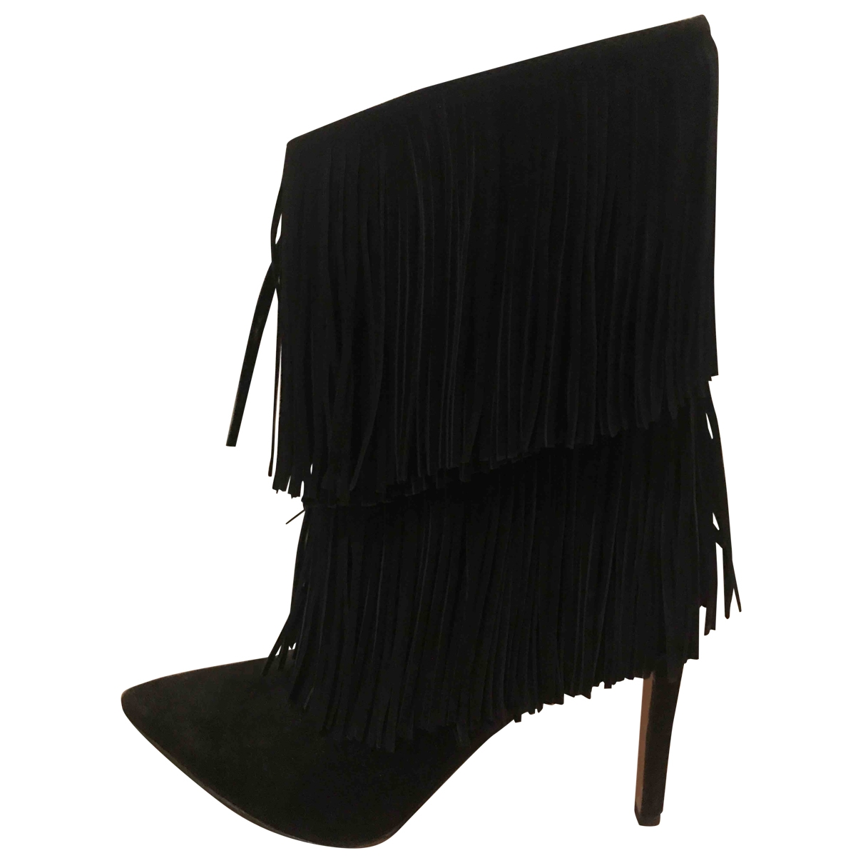 Sam Edelman \N Black Suede Ankle boots for Women 8 US