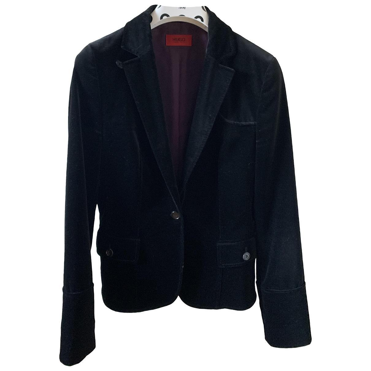 Hugo Boss - Veste   pour femme en velours - noir