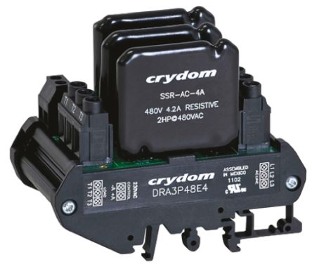 Sensata / Crydom 2.4 A rms Solid State Relay, Zero Cross, DIN Rail, 510 V rms Maximum Load