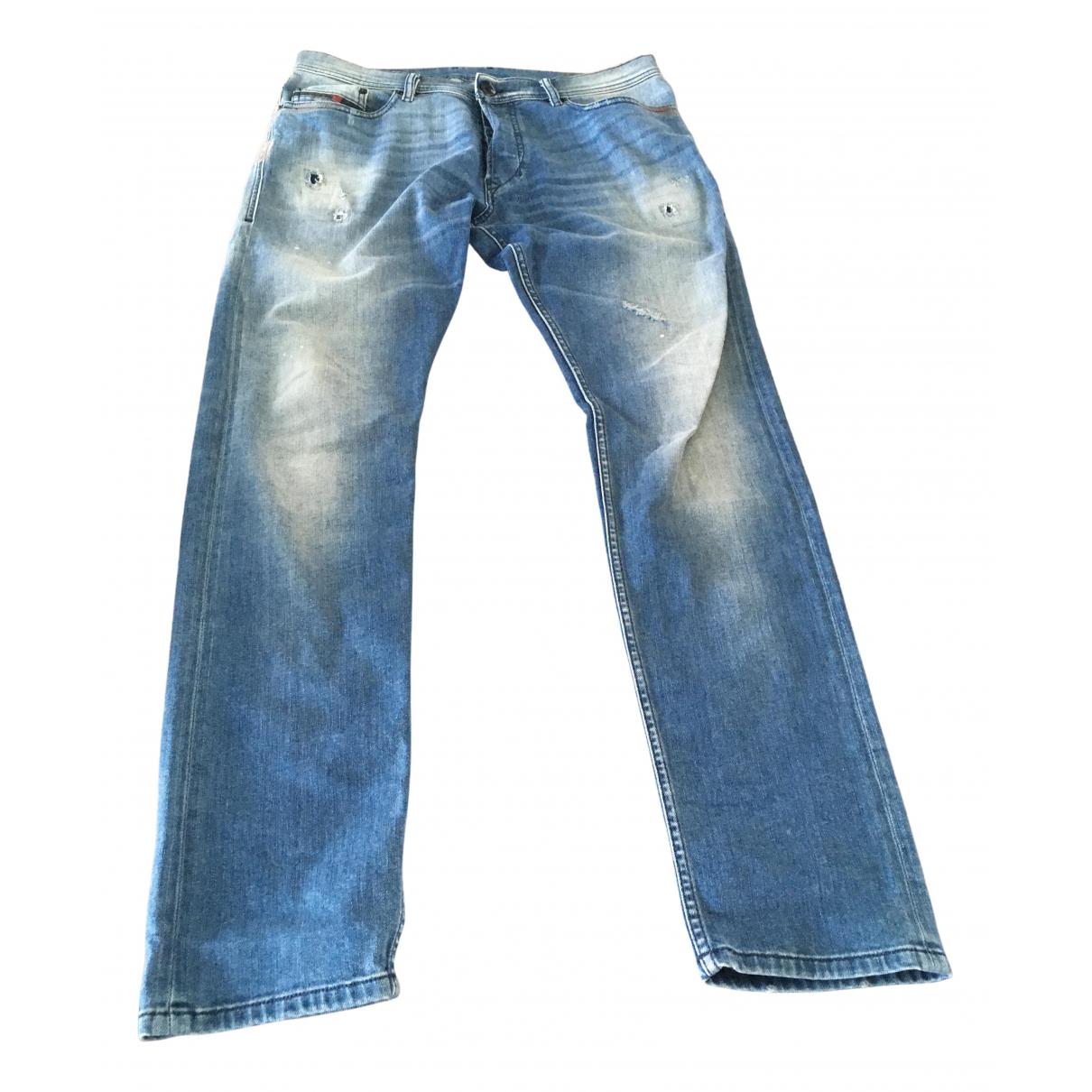 Diesel \N Blue Cotton - elasthane Jeans for Men 34 US