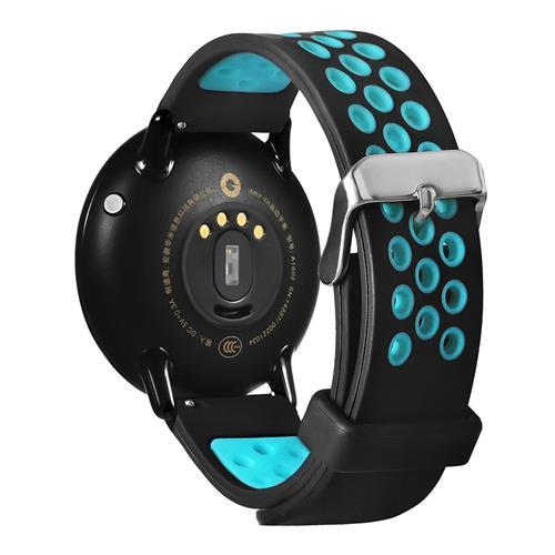Dual Color with Hole Replacement Band for Xiaomi HUAMI AMAZFIT Pace Smart Sports Watch - Black+Blue