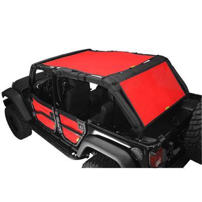 DirtyDog 4x4 Safari Sun Screen with Cargo Coverage (Red) - J4SS07SCRD