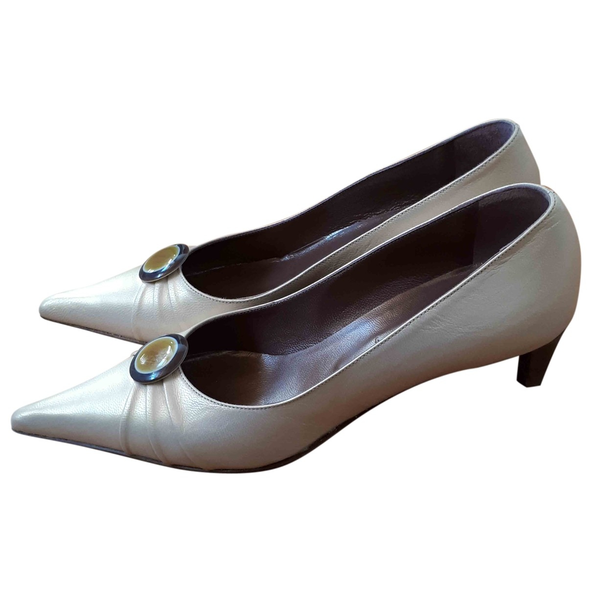 Non Signé / Unsigned \N Gold Leather Heels for Women 36.5 IT