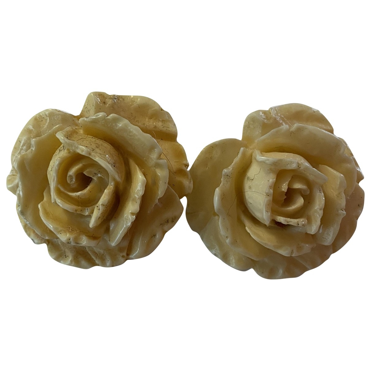 Giorgio Armani - Boucles doreilles   pour femme en ceramique - blanc