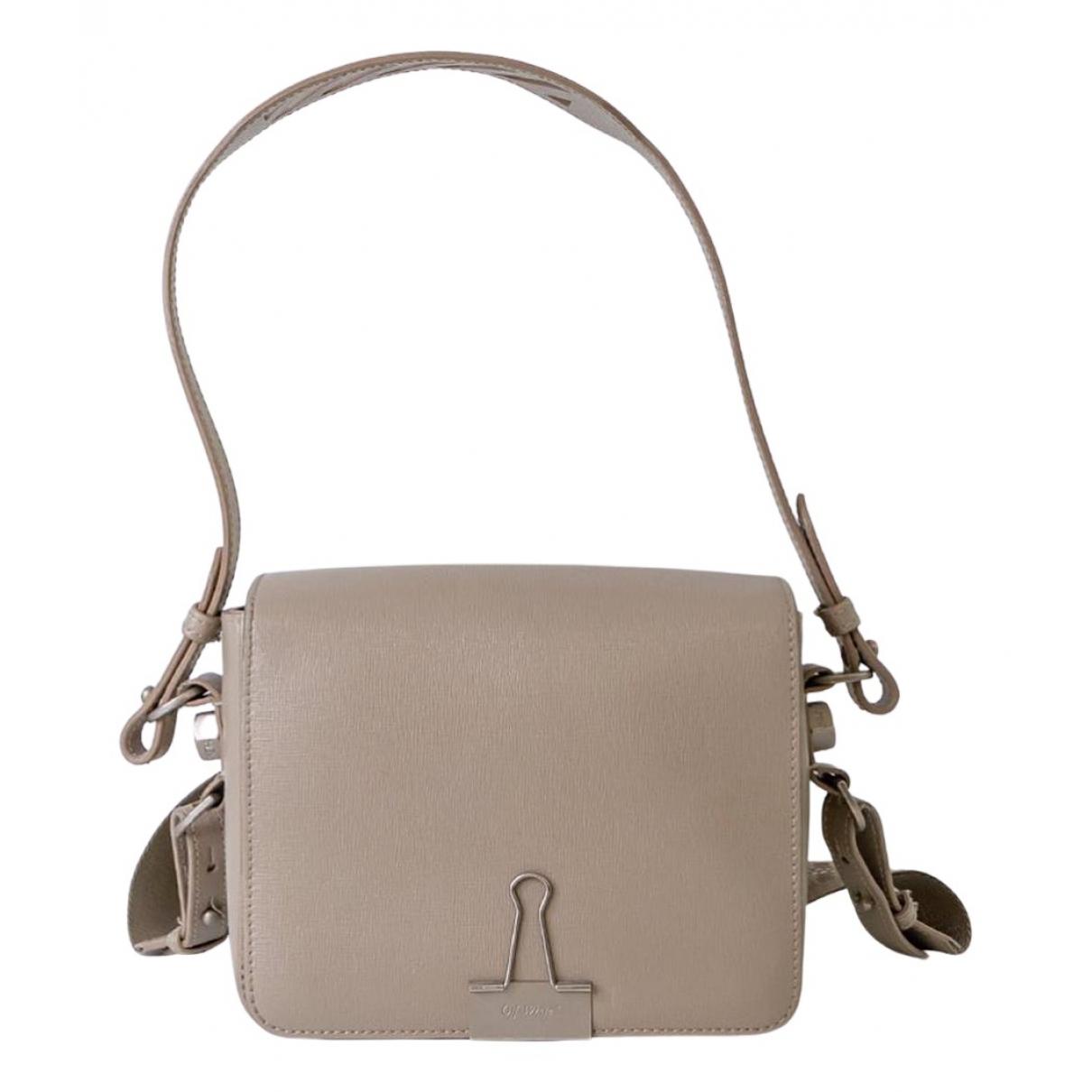 Off-white N Grey Leather handbag for Women N
