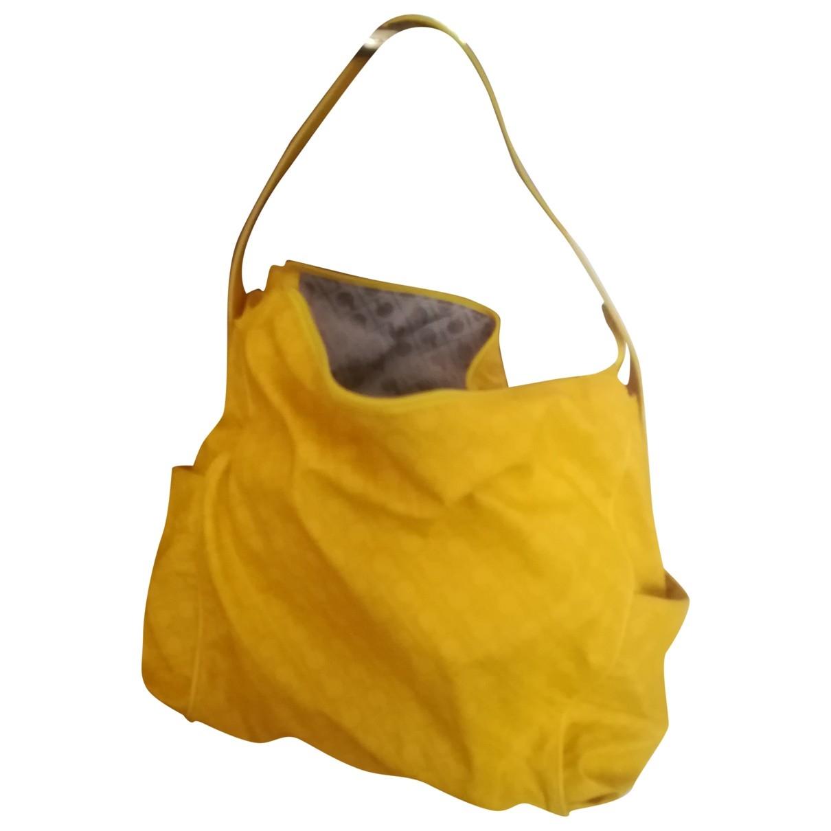 Gherardini - Sac a main   pour femme en toile - jaune