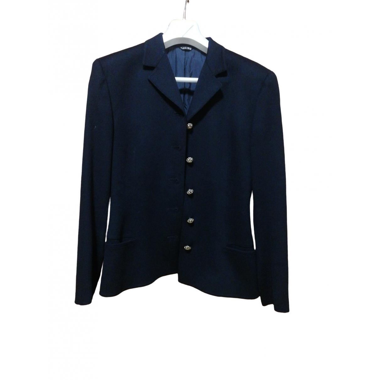 Gianni Versace \N Black Wool jacket for Women 44 FR