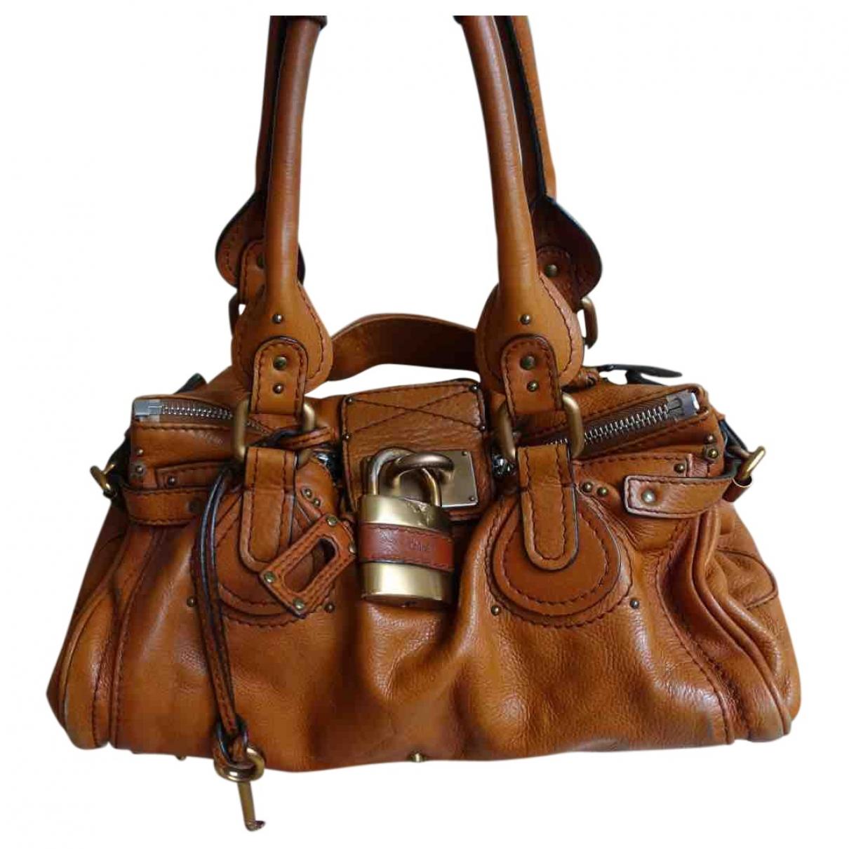 Chloe Paddington Handtasche in  Gold Leder