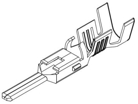 Molex , VersaBlade Male Crimp Terminal Contact 14AWG 35745-0210 (100)