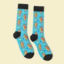 Maenner Socken mit Karikatur Tier Muster