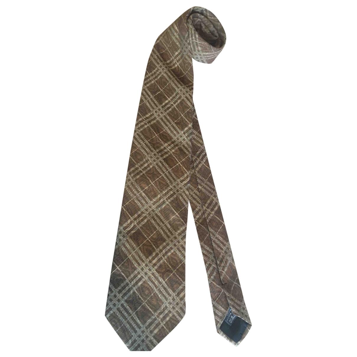 Burberry \N Krawatten in  Braun Baumwolle