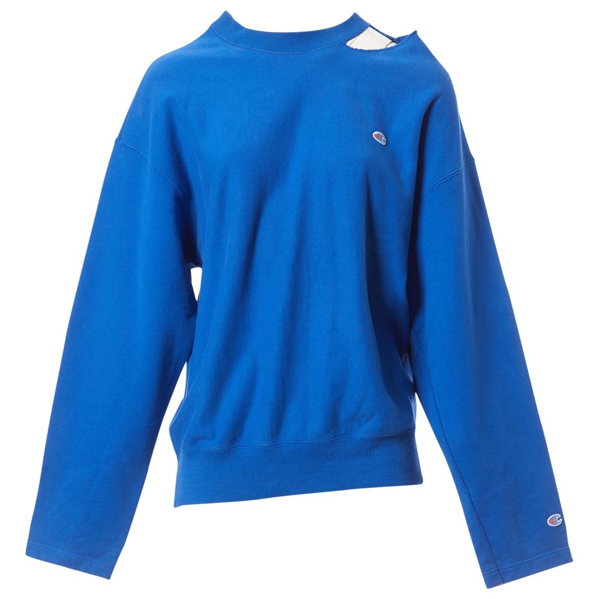 Vetements - Pull   pour femme en coton - bleu