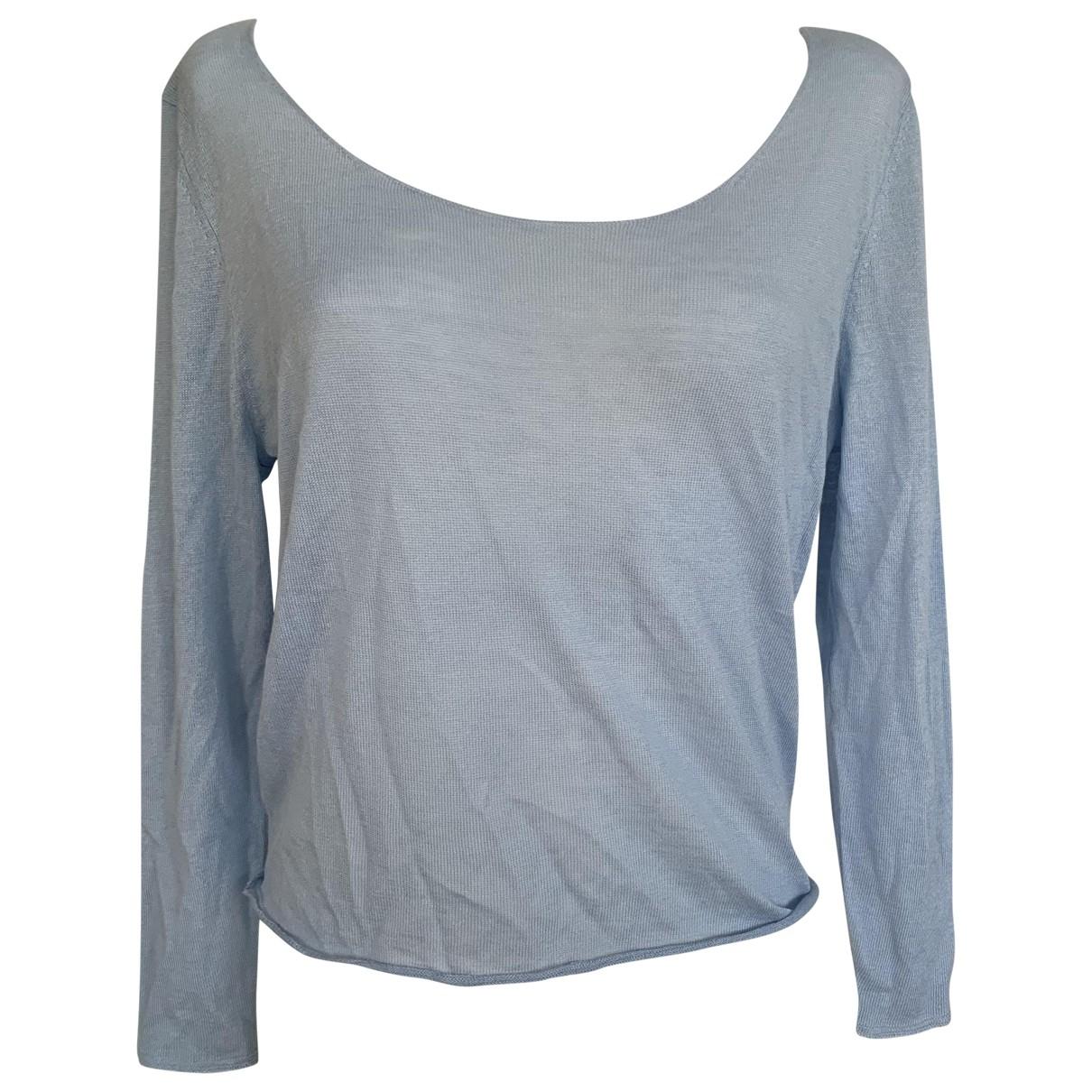American Vintage - Pull   pour femme en coton - bleu
