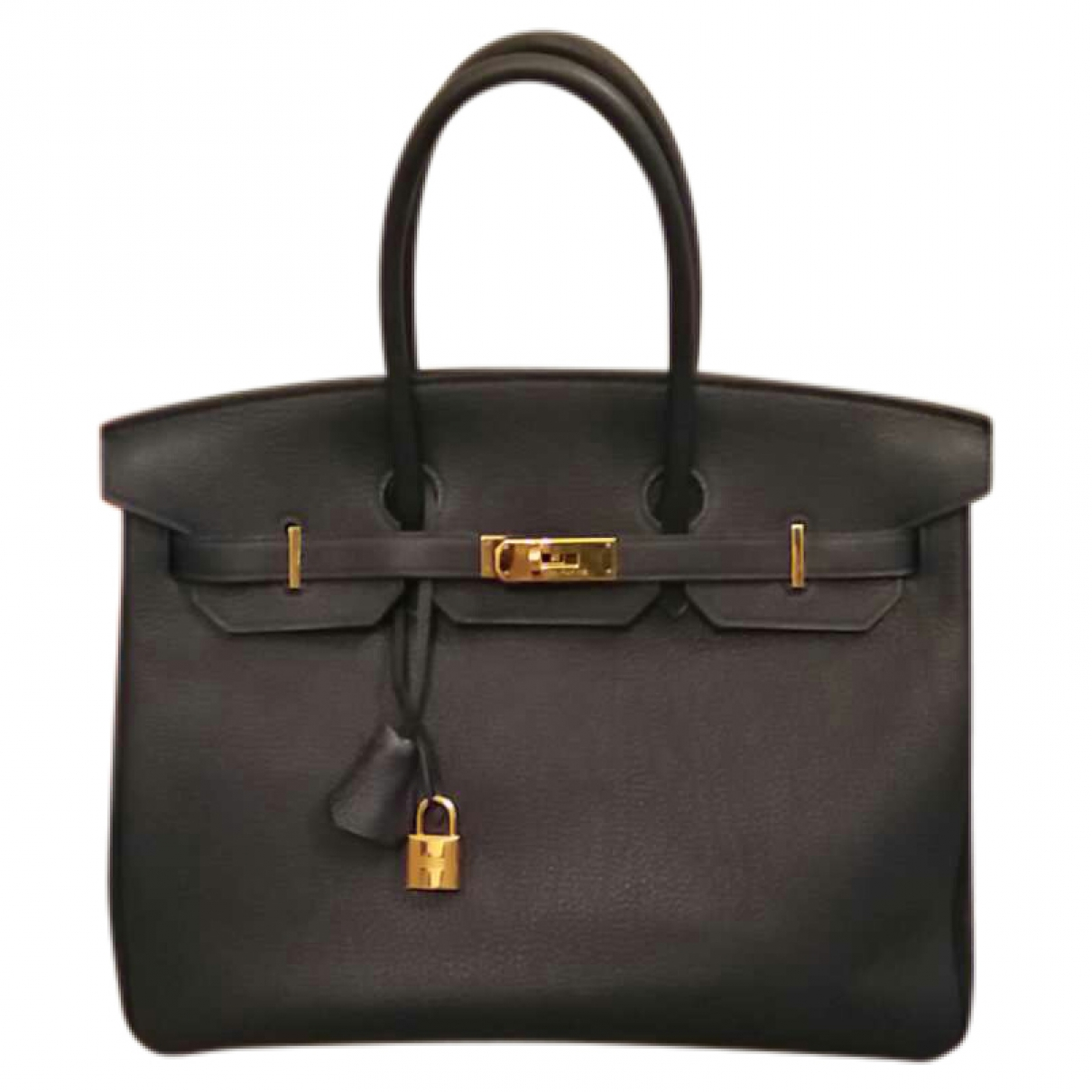 Hermès Birkin 35 Blue Leather handbag for Women \N