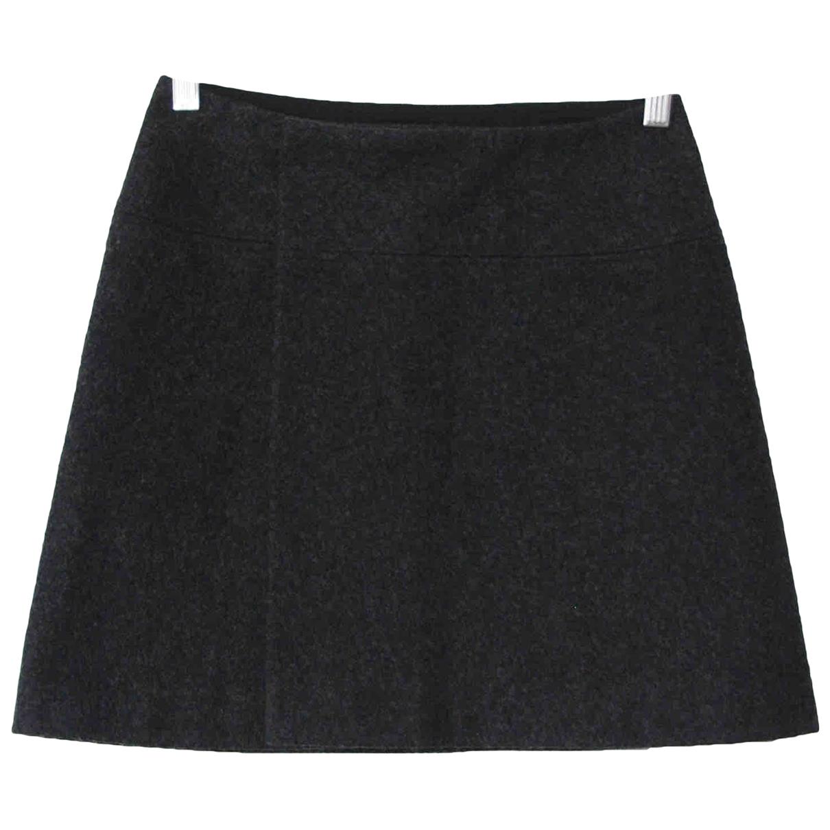 Yohji Yamamoto \N Grey Wool skirt for Women 1 0-5
