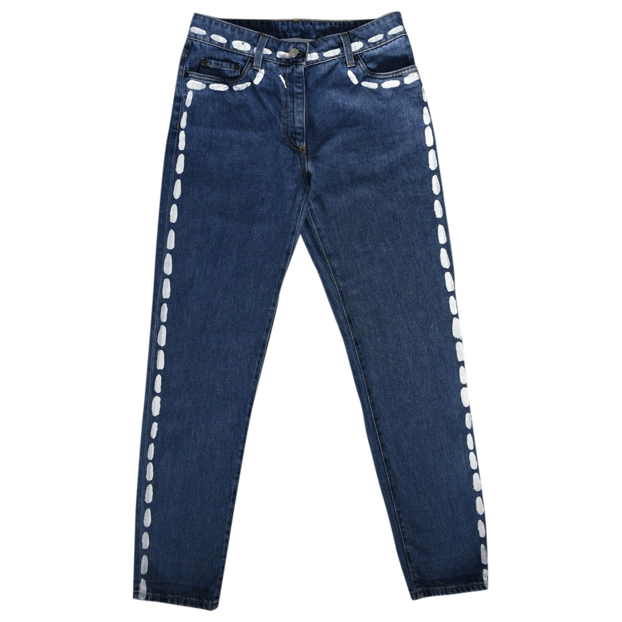 Moschino \N Blue Cotton Jeans for Women 36 FR