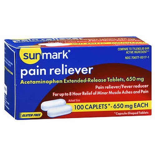 Sunmark Pain Reliever 100 Tabs by Sunmark