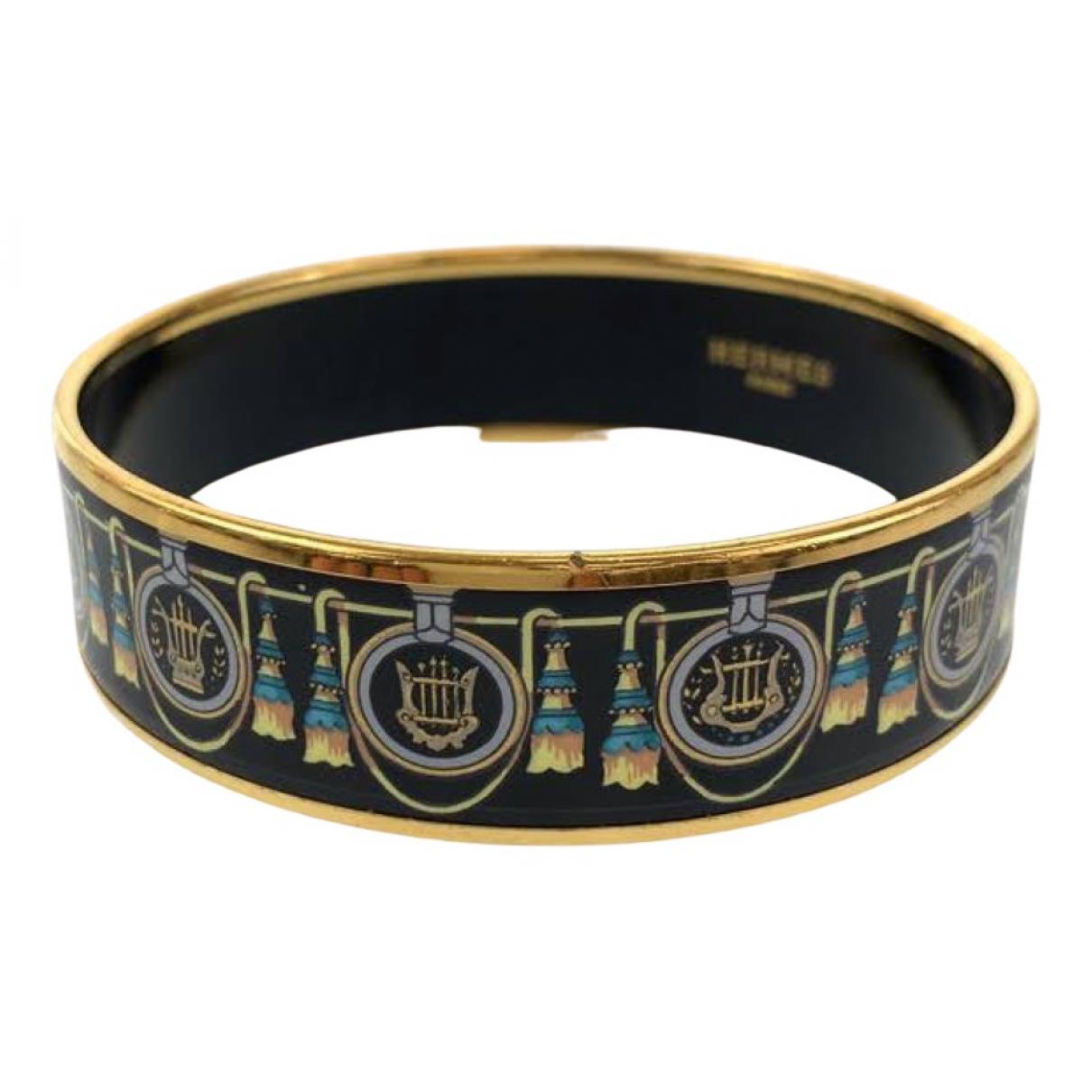 Hermes Bracelet Email Armband in  Schwarz Metall