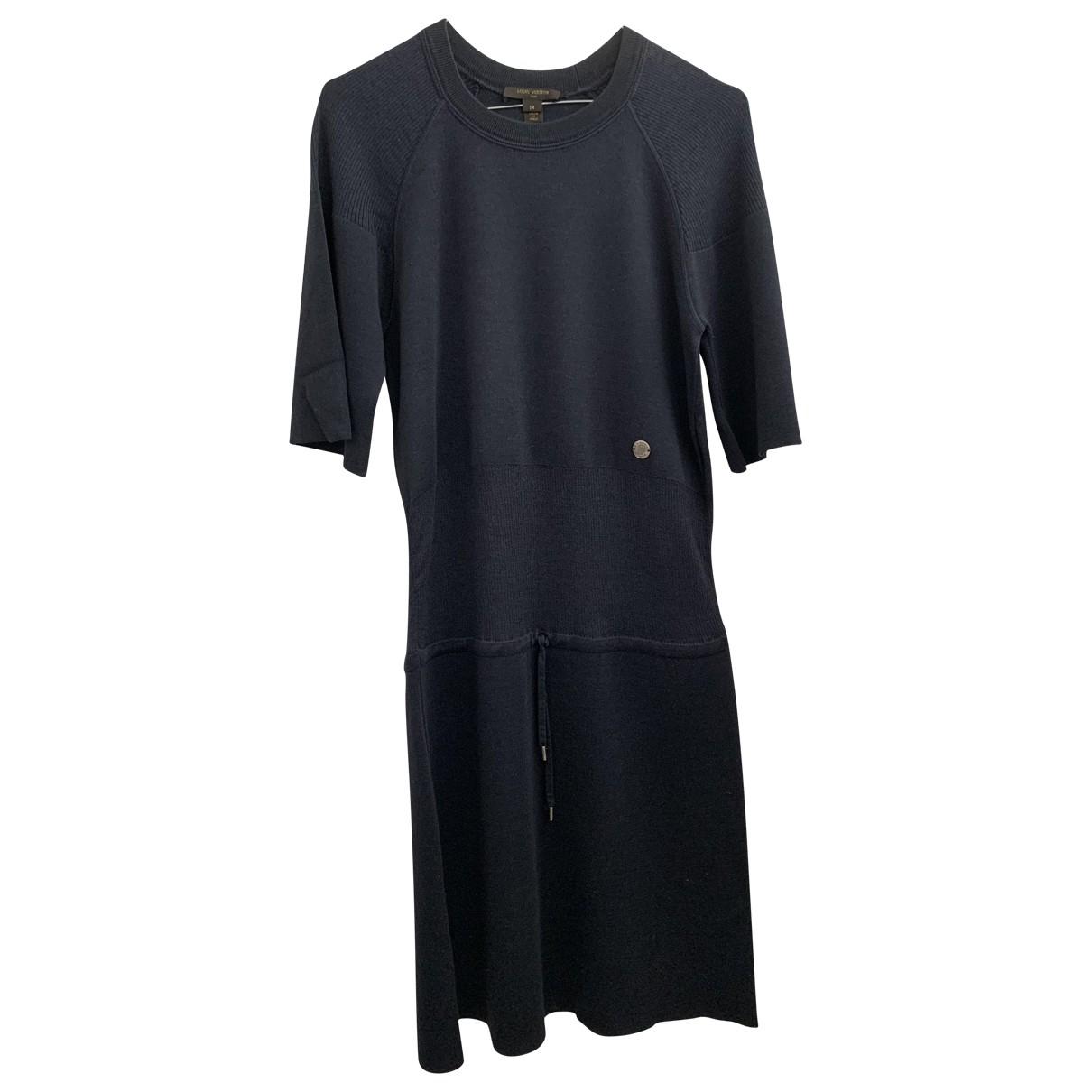 Louis Vuitton \N Kleid in  Blau Wolle