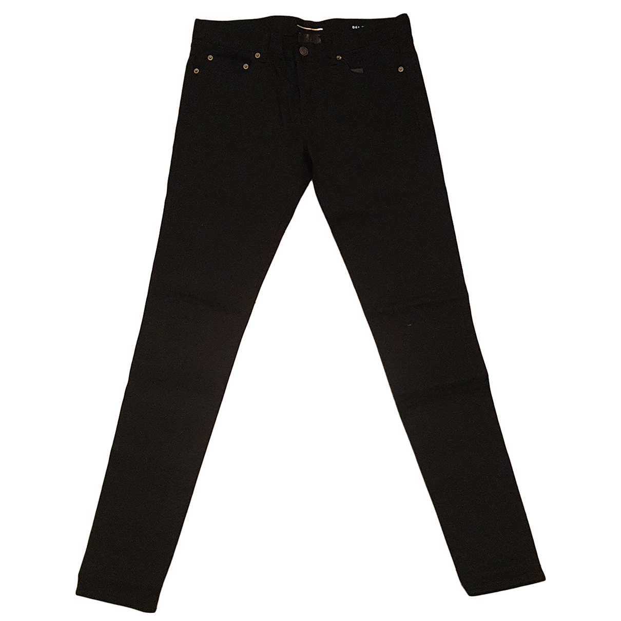 Saint Laurent N Black Cotton - elasthane Jeans for Women 29 US