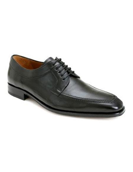 Mens Black Calfskin Lace Up Split Toe Oxford Leather Shoes Brand