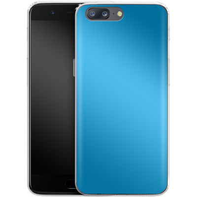 OnePlus 5 Silikon Handyhuelle - Test Cyan von caseable Designs