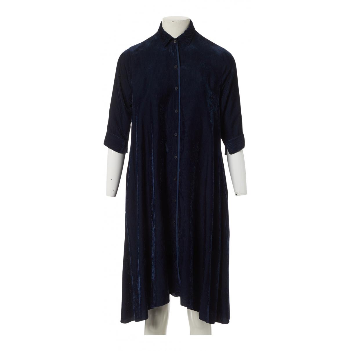 Forte_forte - Robe   pour femme en velours - marine