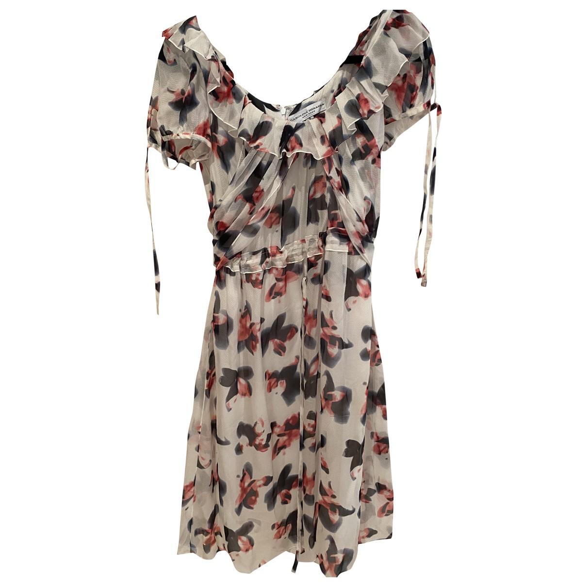 Carolina Herrera \N White Silk dress for Women 2 US