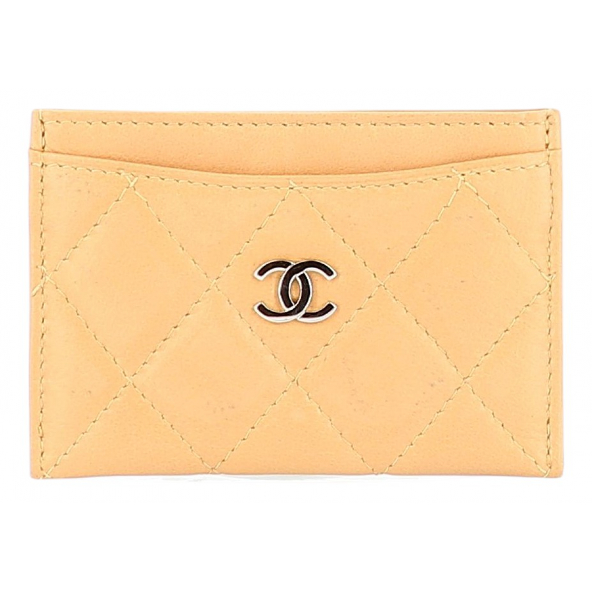 Chanel \N Beige Leather Purses, wallet & cases for Women \N