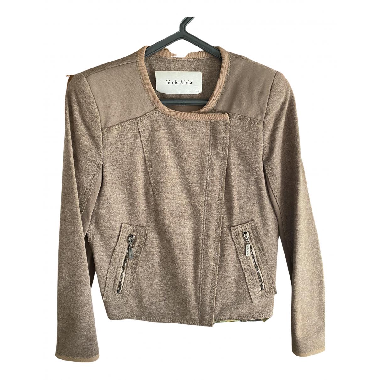 Bimba Y Lola N Beige Wool jacket for Women XS International