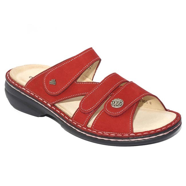 Finn Comfort Ventura Red Nubuck Soft Footbed 39