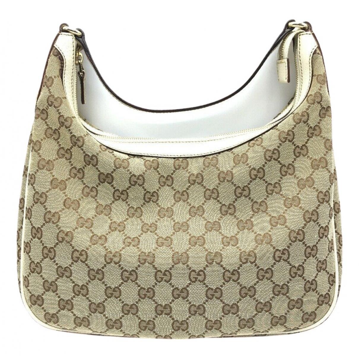 Gucci \N Handtasche in  Beige Leinen
