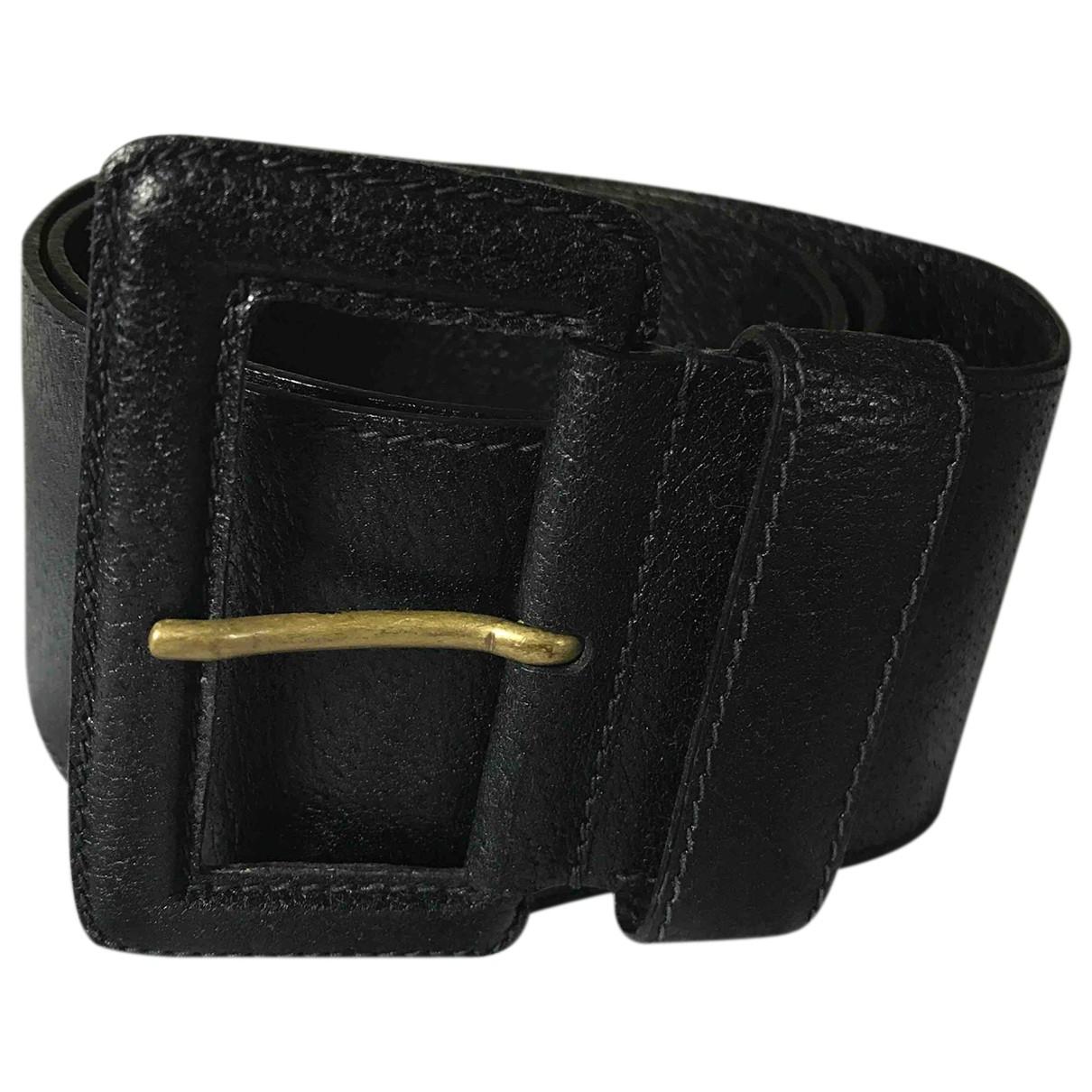 Prada \N Black Leather belt for Women 75 cm