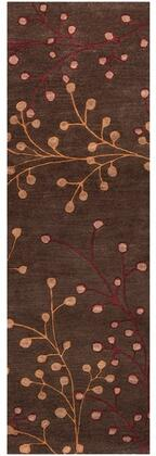 Athena Collection ATH5052-312 Runner 3' x 12' Rug  Hand Tufted with Wool Material in Brown and Red
