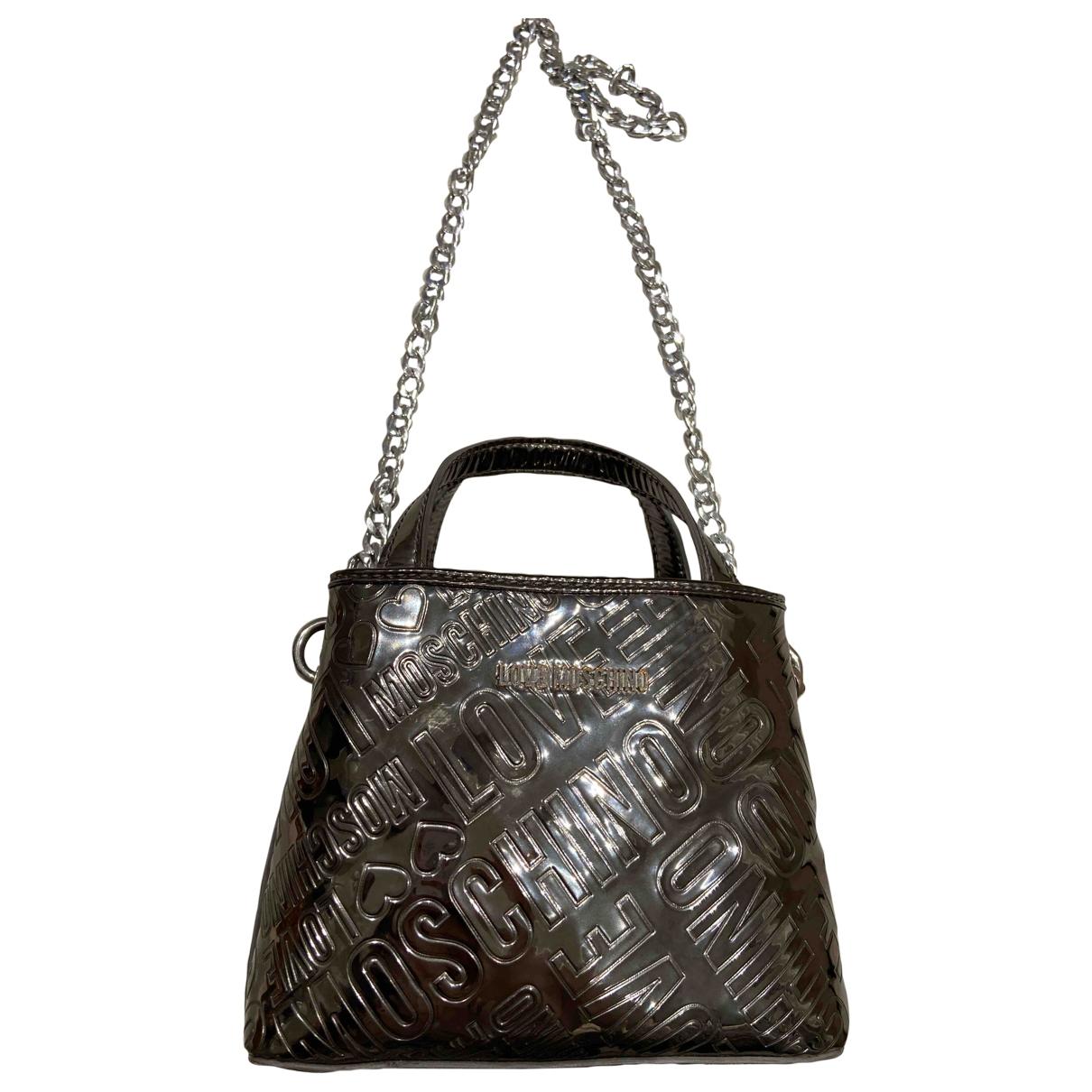 Moschino Love \N Handtasche in  Metallic Metall