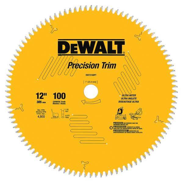 DW72100PT Precision Trim Circular Saw Miter Saw Blade 12