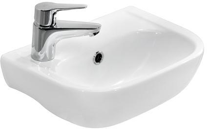 4-2000WH Caroline 380 Wall-Hung Basin  White  No Faucet