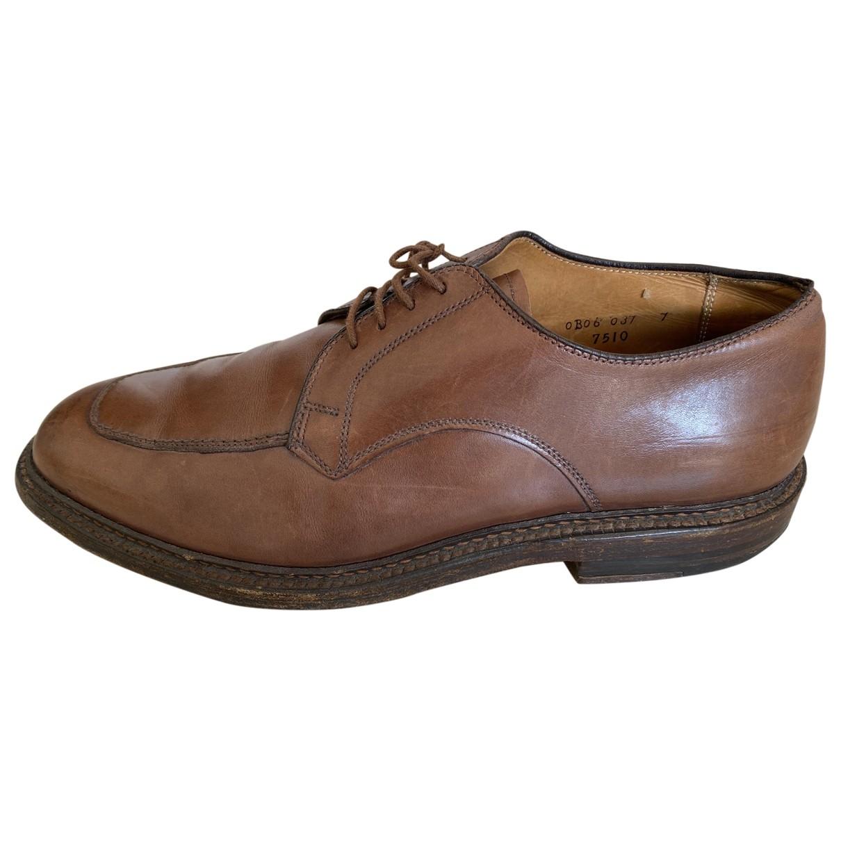 Alden - Derbies   pour homme en cuir - marron