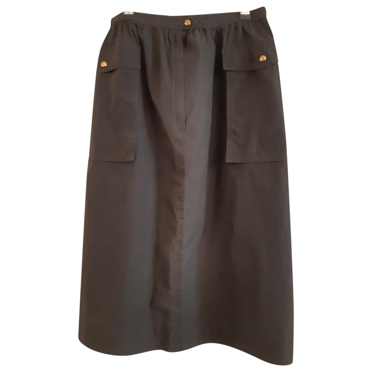 Celine - Jupe   pour femme en coton - noir