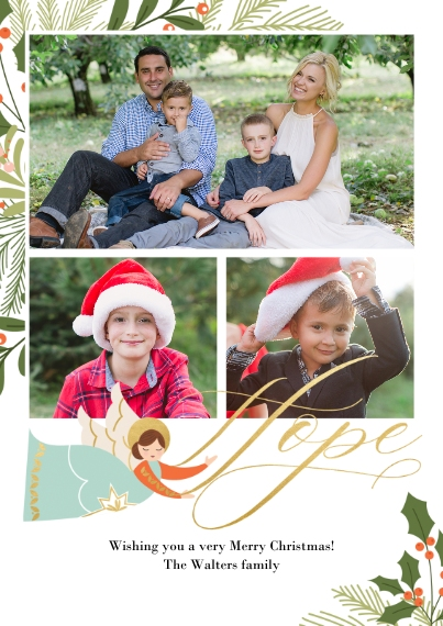 Christmas Photo Cards 5x7 Cards, Premium Cardstock 120lb, Card & Stationery -Angels Adore