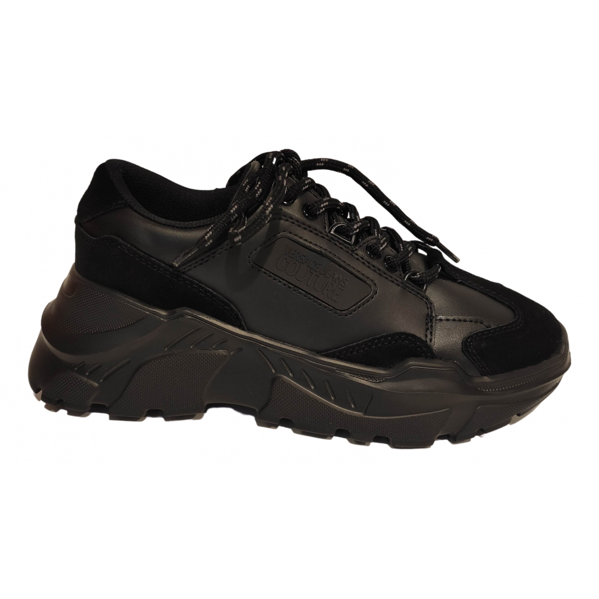 Versace Jeans N Black Leather Trainers for Men 43 EU