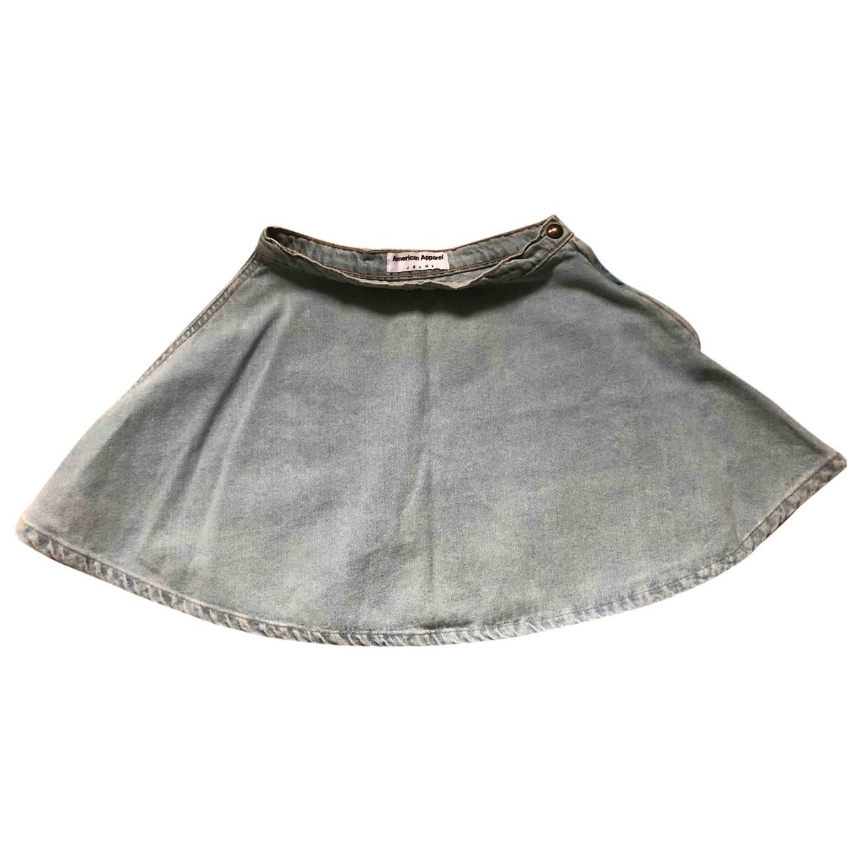 American Apparel \N Blue Denim - Jeans skirt for Women S International