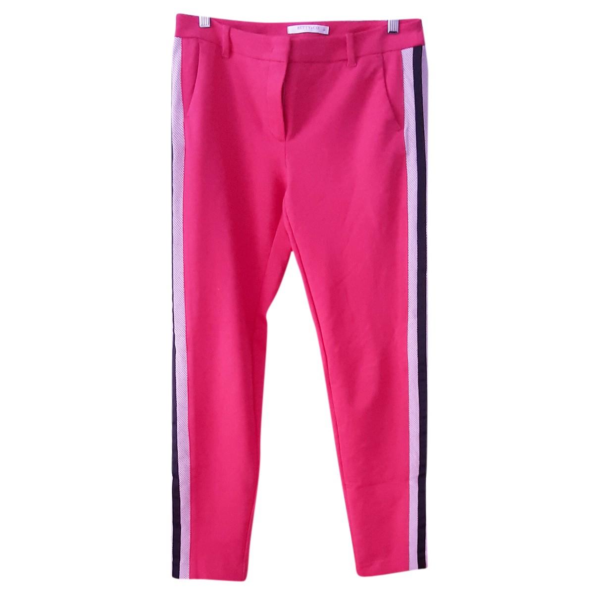 Autre Marque N Pink Cotton Trousers for Women M International