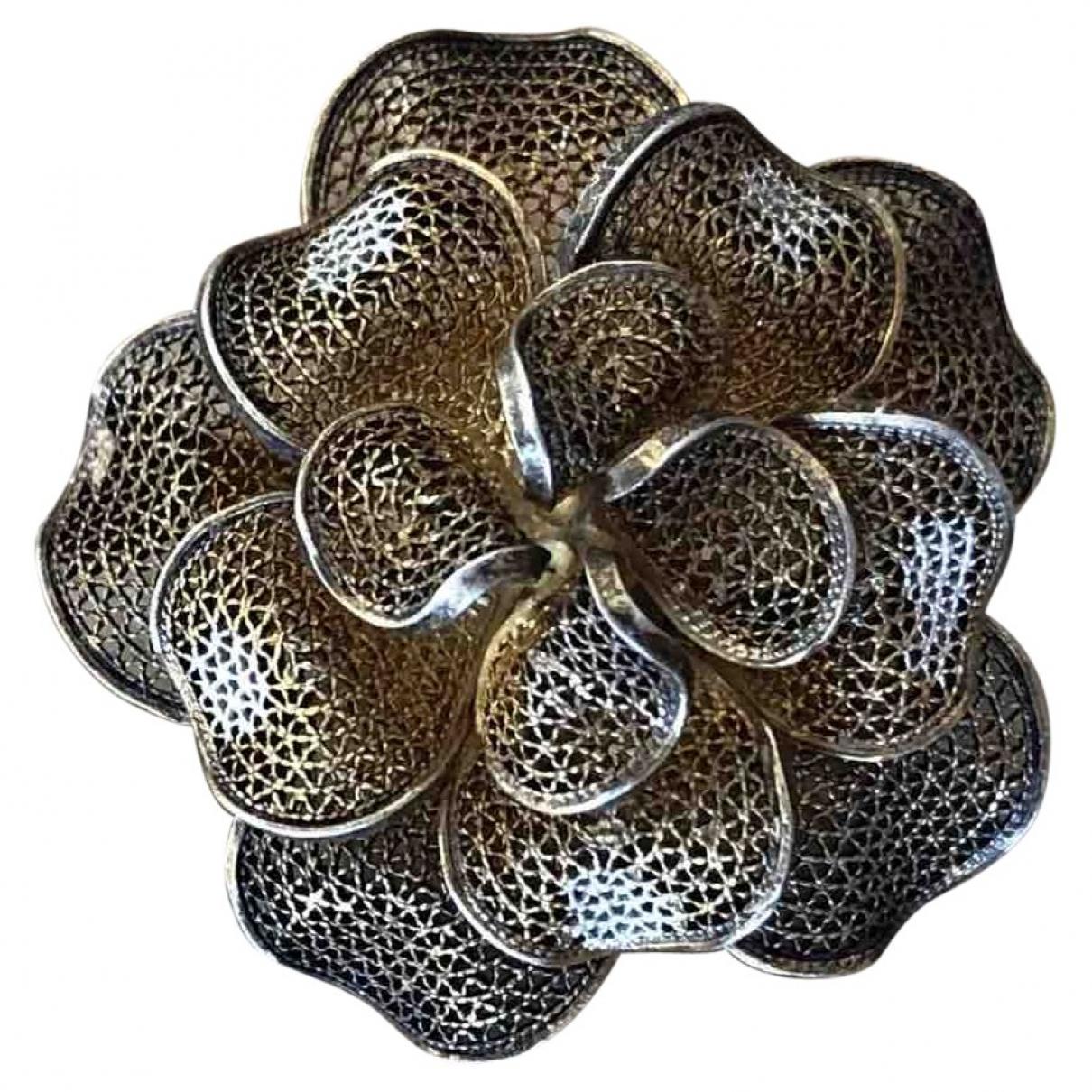 - Broche Motifs Floraux pour femme en argent - dore