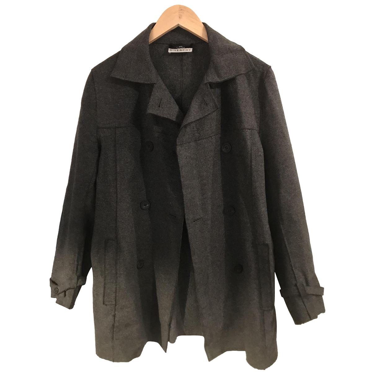 Givenchy - Manteau   pour femme en laine - anthracite