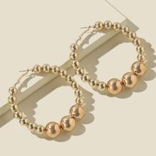 Round Ball Hoop Earrings