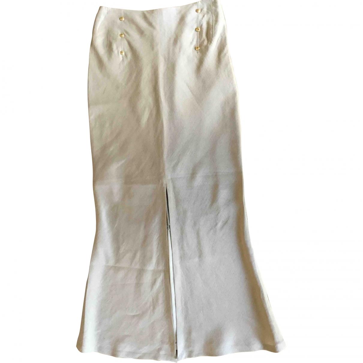 Gianfranco Ferré \N Beige Linen skirt for Women 40 IT