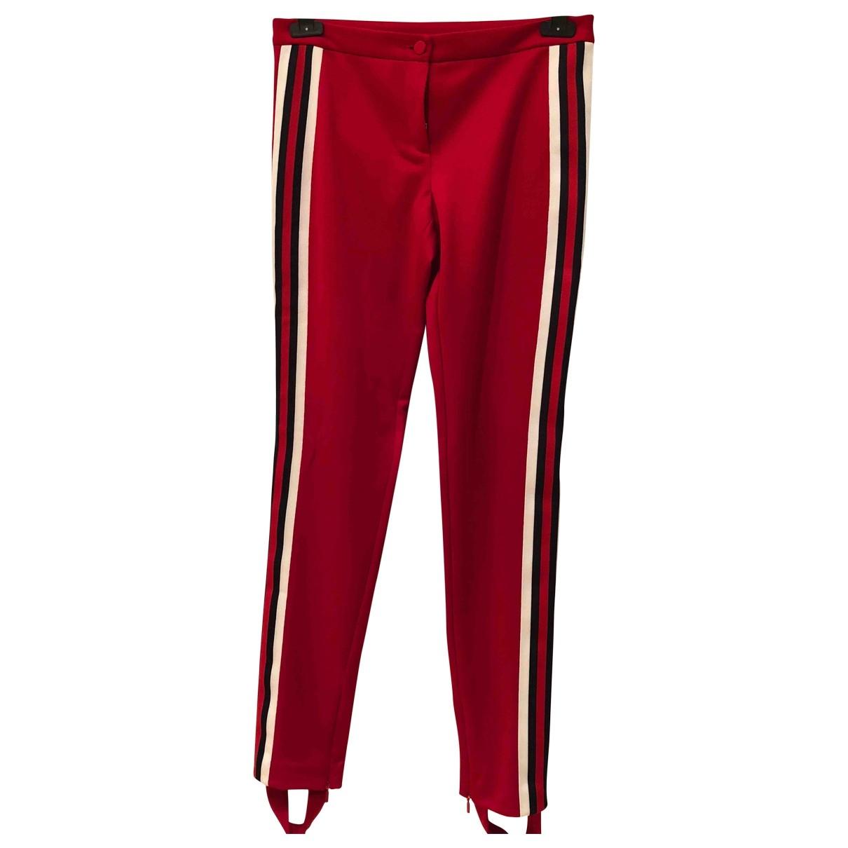 Gucci - Pantalon   pour femme en coton - rouge