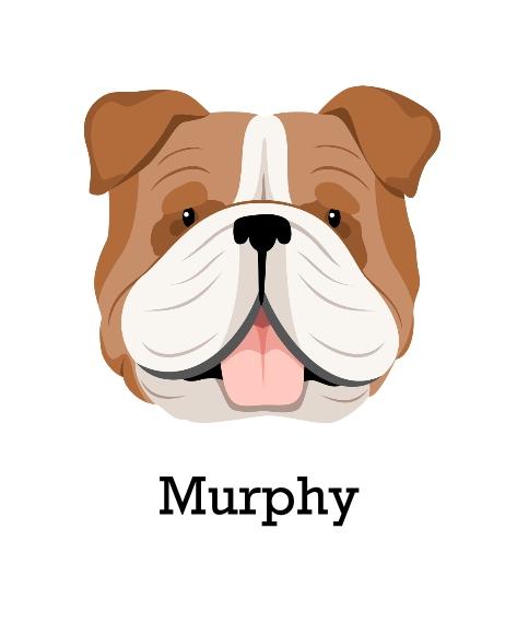 Pet Canvas Print, 16x20, Home Décor -English Bulldog